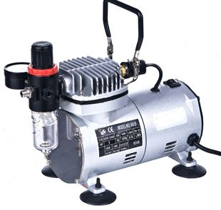 Airbrush Compressor Bebas Minyak Seri AS18-2 - Digital Meter Indonesia