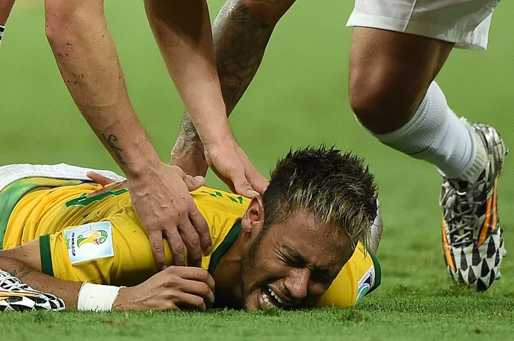 Neymar was stretchered off the field after a foul by Colombia's Juan Zuniga in the 87th minute.