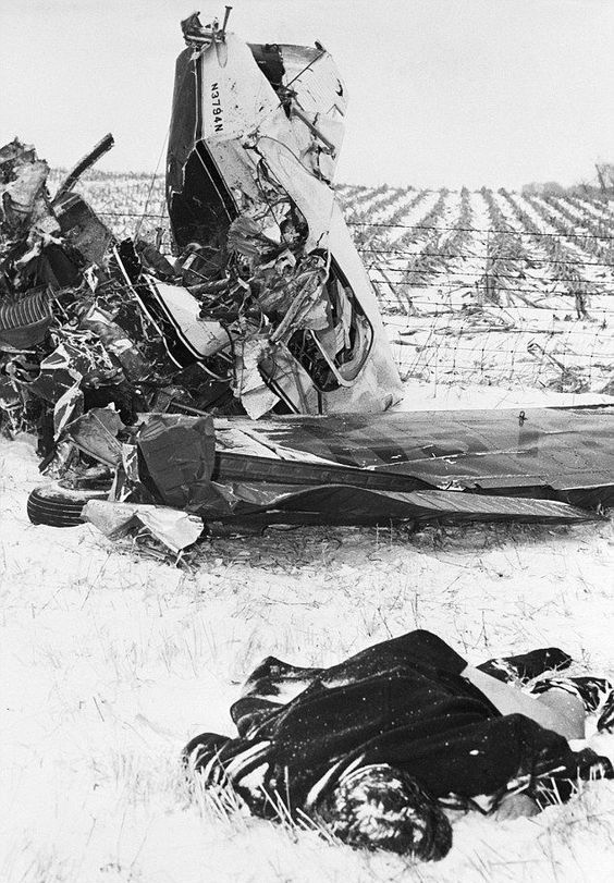 February 3rd, 1959.....the body of Ritchie Valens lies in the snow following the plane crash that took the life of Ritchie, The Big Bopper, and Buddy Holly in Clear Lake, Iowa.