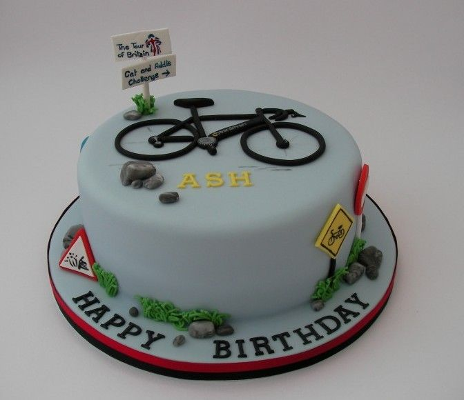 bicycle cakes | Road Bike Cyclist Cake