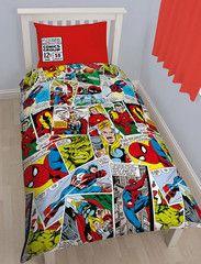 MARVEL COMICS ~ 'Justice' Single Bed Reversible Quilt Set