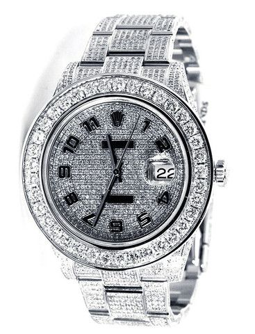 Rolex Datejust II Pave Diamond Dial / Loaded with Diamonds - 18ct | Limited Watches