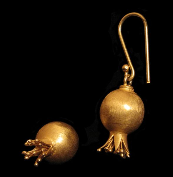 Firouzeh JEWELLERY - Mediterranean Collection - Pomegranade Earrings IMG_0082_2