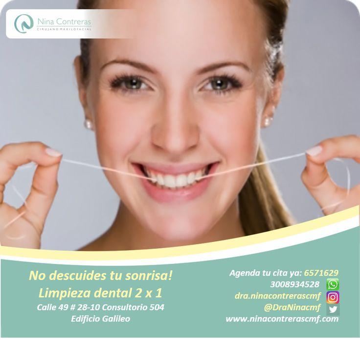 No descuides tu sonrisa! Si ya paso más de 6 meses, es tiempo de visitar al odontólogo. Te esperamos. Excelentes planes y descuentos. Agenda tu cita ya: 6571629 - WhatsApp: 3008934528 http://ninacontrerascmf.com/location/