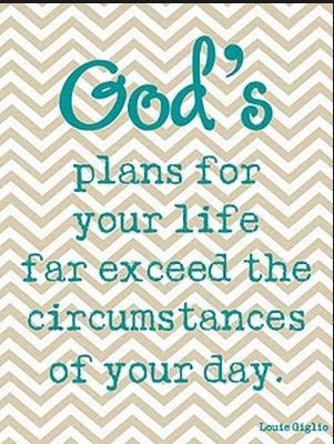 God's plans > my day's circumstances.