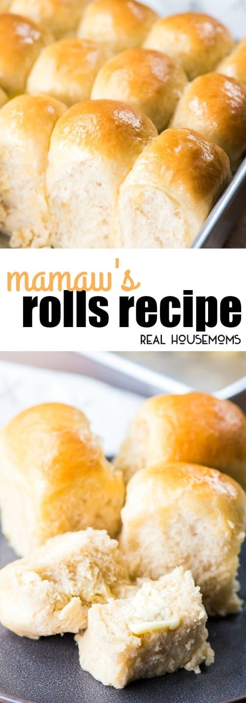 Mamaw's Rolls are a classic yeast roll just like my great-grandma used to make. They're so easy to make & you can even be made ahead of time & frozen. via @realhousemoms