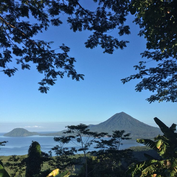Beautiful scenery from Bukit Senyum 5000, North Maluku, Indonesia