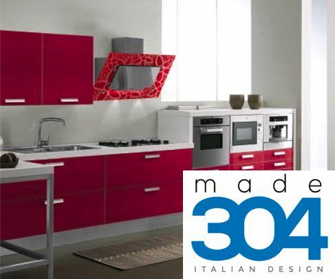 Cucina con TRE color rosso