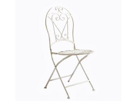 Складной круглый стул «Тюильри» (белый антик)