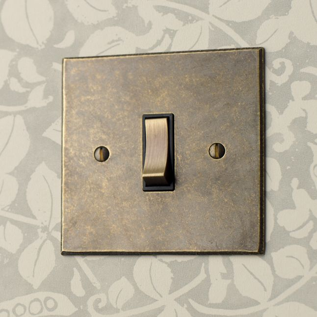 Our beautiful one gang brass #grid #switch is a simply elegant understated design for your home .