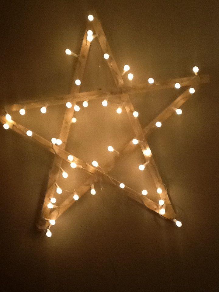 ster met kerstverlichting