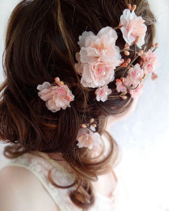 bridal hair accessories bridal hairpiece blush by thehoneycomb