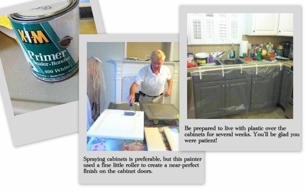 Painting melamine cabinets