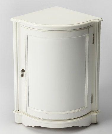 Love this Cottage White Corner Cabinet on #zulily! #zulilyfinds