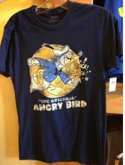"Did you Know? Donald has a middle name. Donald F. Duck's middle name is ""Fauntleroy"".   'The Original Angry Bird' T-Shirt, Donald Duck, Disney, Angry Bird Parody"