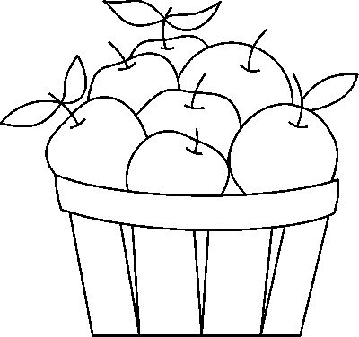 Stained Glass Apples In Basket Pattern
