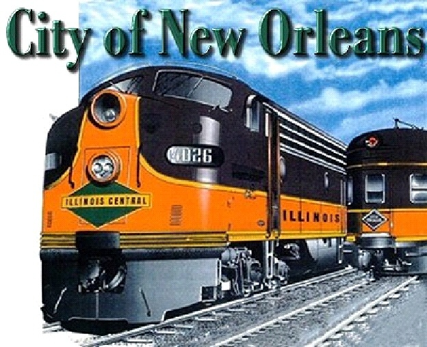 """""""The City of New Orleans"""" (written by Steve Goodman) makes me feel like I am on a train: """"And the sons of Pullman Porters, and the sons of engineers/Ride their father's magic carpets made of steel/And mothers with their babes asleep rocking to the gentle beat/And the rhythm of the rails is all they feel."""" In 2005, Jimmy Buffett performed an acoustic version from the bleachers of Wrigley Field. It was a moving tribute to Chicago native Steve Goodman and the victims of Hurricane Katrina."""