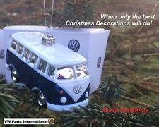"""VW Camper Van Splitty Albero di Natale Decorazione Regalo di Natale autentico OEM NUOVO """"BLU"""""""