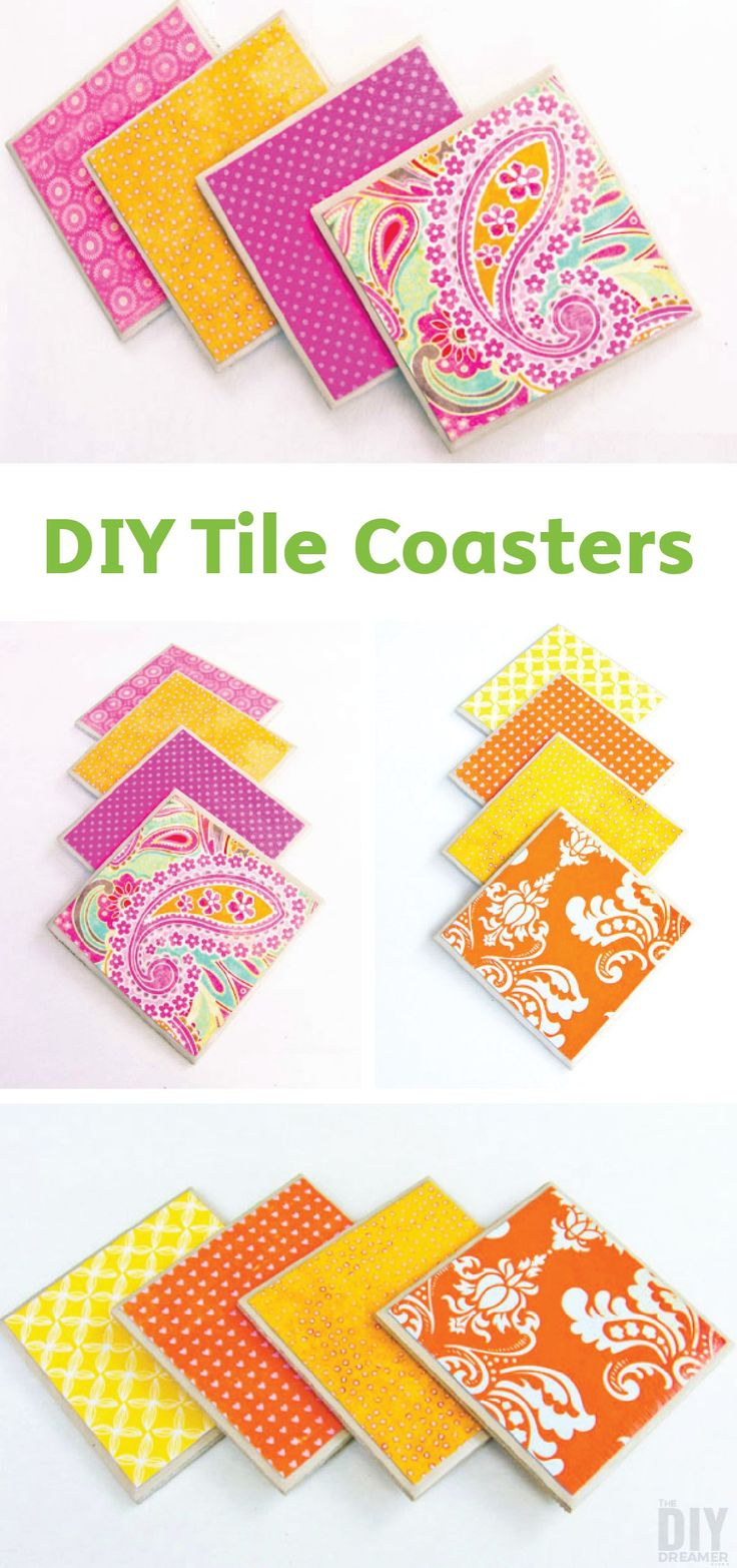 Make your very own tile coasters with this simple DIY tutorial. All you need are Mod Podge, scrapbook paper, Bounty Paper Towels, and tiles to create beautiful, one-of-a-kind coasters for your home!
