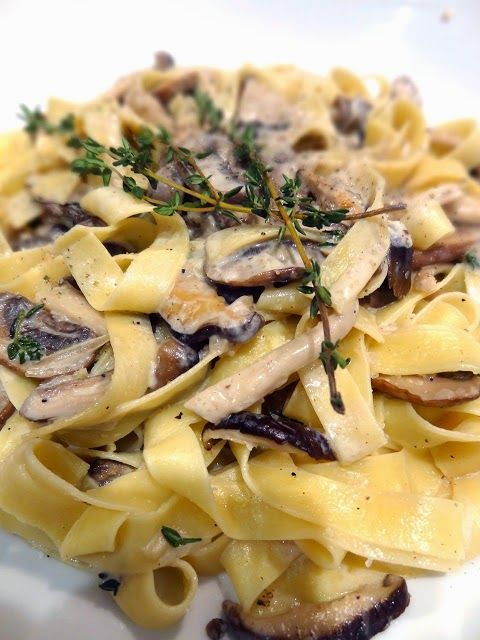 Any recipe that features wild mushrooms gets my attention, and especially if they're combined with cream and a little cognac or Marsal...