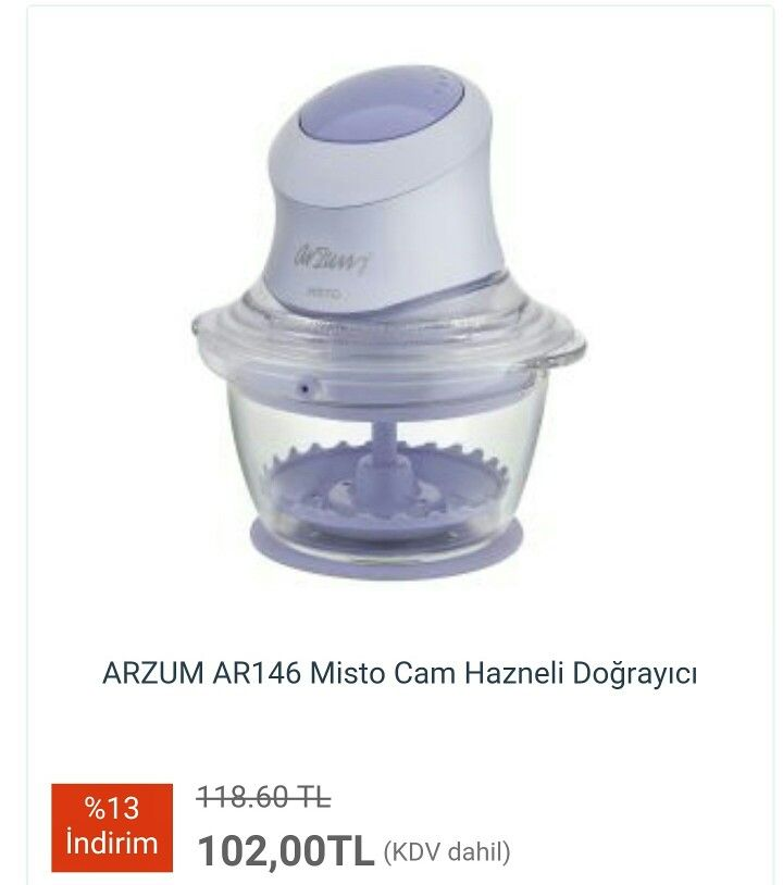 #ARZUM AR146 Misto Cam Hazneli #Doğrayıcı  http://www.modahan.net/elektrikli-ev-aletleri-ütüler-elektrik-süpürgeleri-blenderlar-tost-makinesi-çay-kahve-makineleri-kettle-meyve-sıkacakları-k-20/blenderlar-k-254/arzum-ar146-misto-cam-hazneli-dograyici-u-76048.html  #taksitli #kapıdaödeme #moda