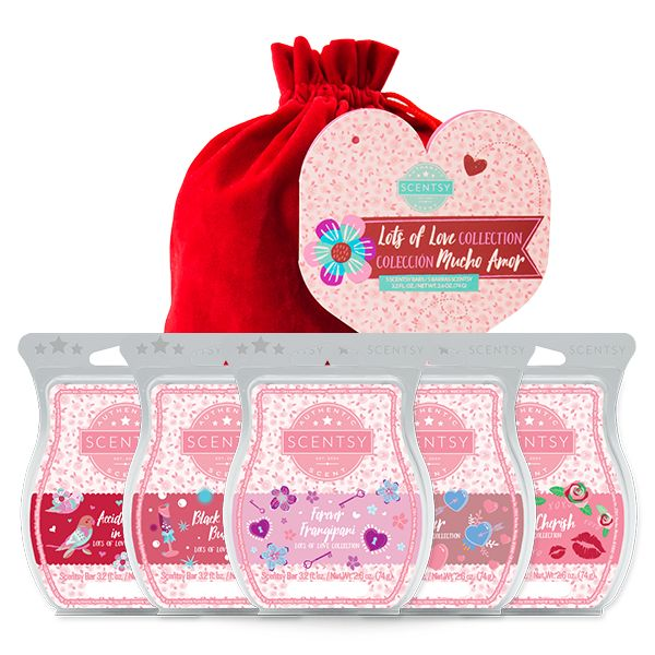Five new Scentsy Bars send hearts aflutter with irresistible fragrances — all gathered in a romantic red velvet bag. Available for a limited time only, while supplies last.