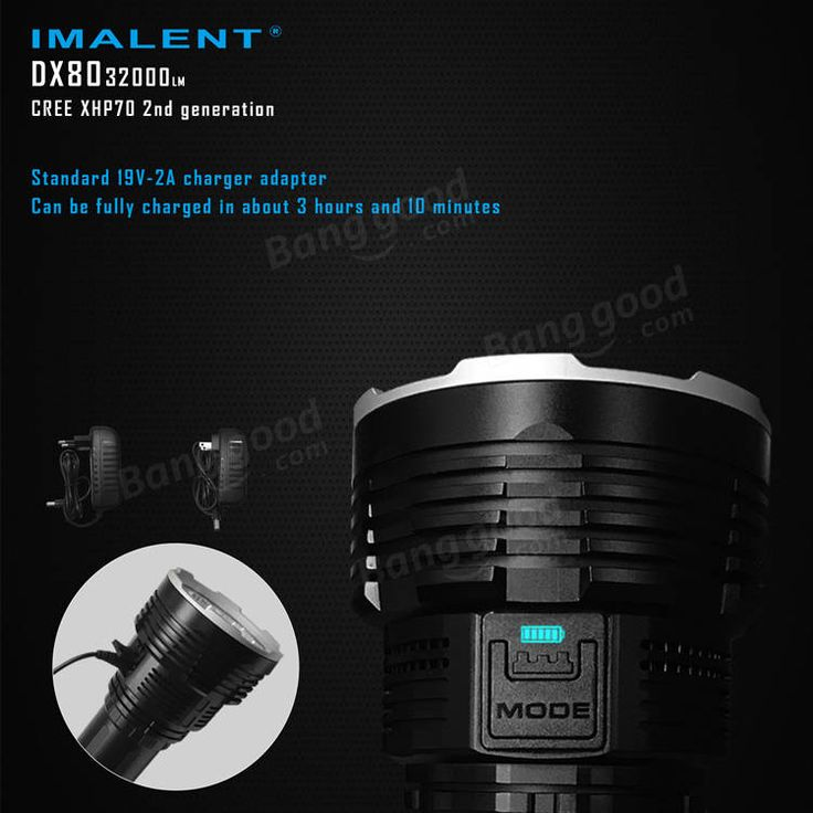 IMALENT DX80 8x XHP70 2nd Generation 32000LM Outdoor Search LED Flashlight 806M