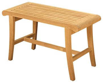 Teak Occassional Bench contemporary-outdoor-benches