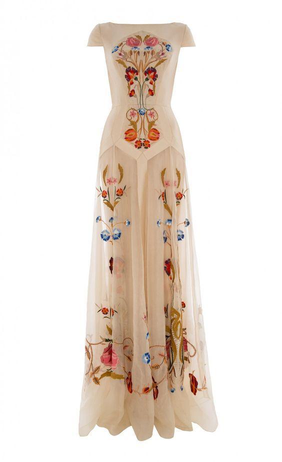 17 Floral Wedding Dresses show off your fashion taste