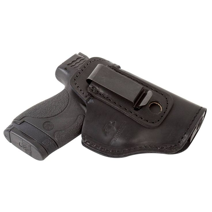 The Defender Leather IWB Holster - S&W Shield/Glock/XD Handguns - Lifetime Warranty - Made in USA