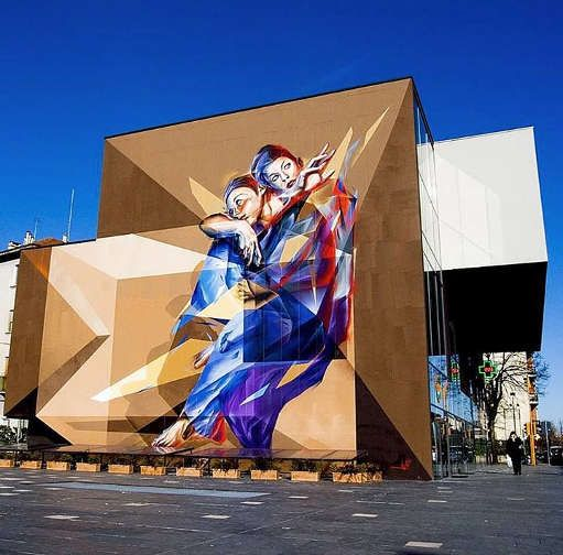Urban art. Graffiti by Vesod Brero. Location: Turin, Italy.