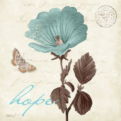 Touch of Blue III, Hope Print by Katie Pertiet
