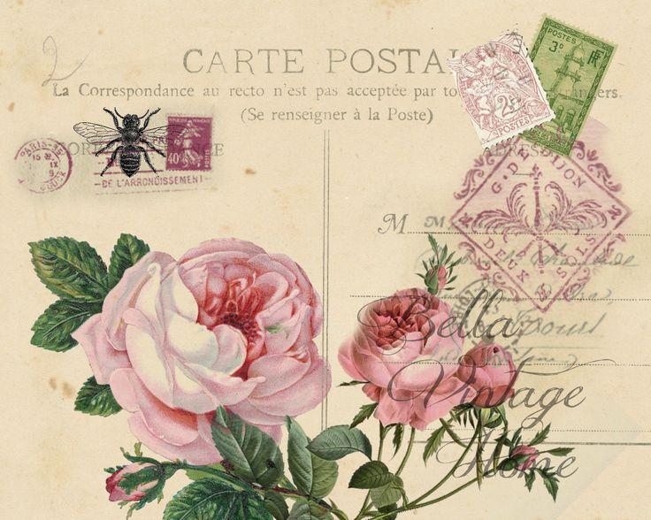 Carte postale de voyage Vintage