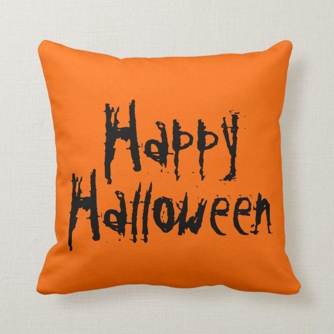 La Phil Halloween 2020 Happy Halloween Orange And Black Pillow   Zazzle.in 2020