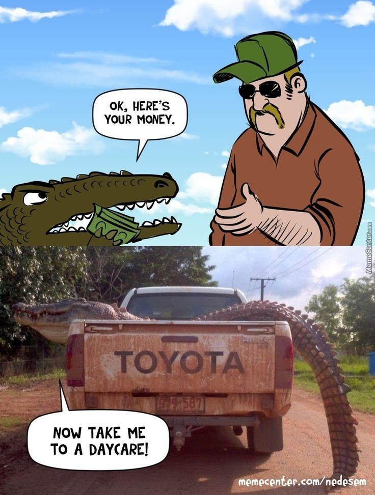 Ein guter Ort zum Mittagessen 🐊 #crocodile #animals #memes #crocodile_meme #memesdai …   – Humor