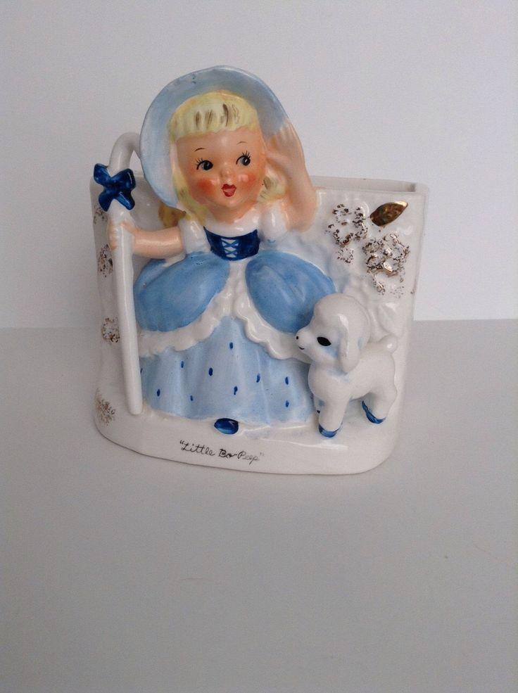 Vintage Napco Little Bo Peep Planter or Vase by SnickKnacks on Etsy https://www.etsy.com/listing/208775422/vintage-napco-little-bo-peep-planter-or