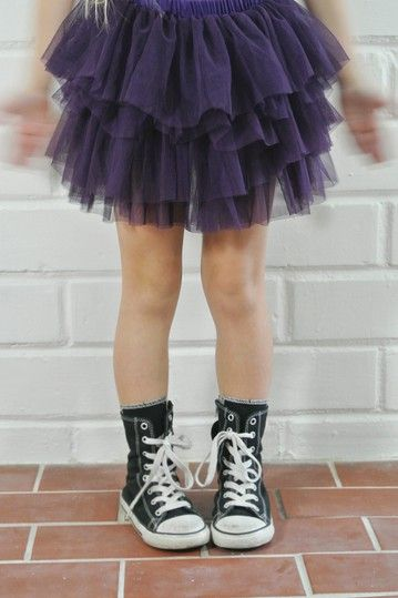 Tutu Skirt With Converse Sneakers Girls Attire