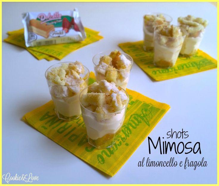 Mimosa shots al limoncello e fragola