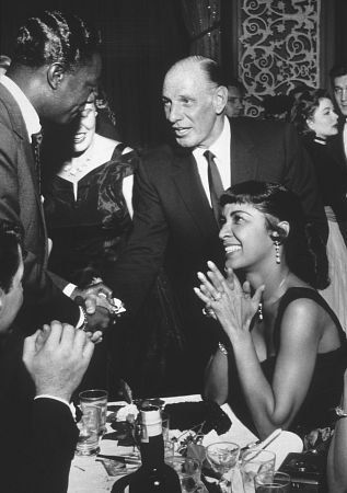 Ciro's Nightclub Nat King Cole, Leo Durocher, & Maria Cole / 1955  unforgetable , in every way .... love nat king cole !