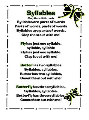 First Grade Wow: syllables