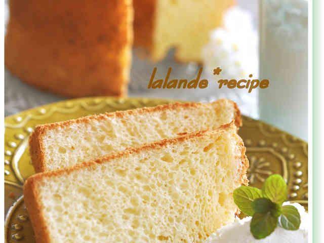蜂蜜レモンのカッテージチーズシフォン♪の画像