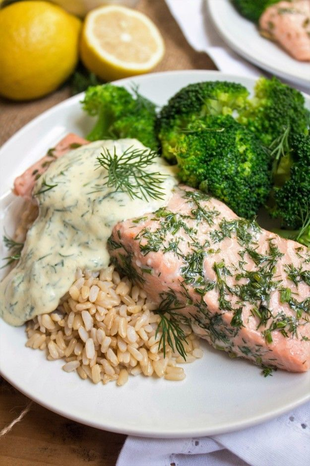Salmon with Lemon Mustard Dill Sauce | 18 Recipes Real Healthy People Eat To Start The Year Right