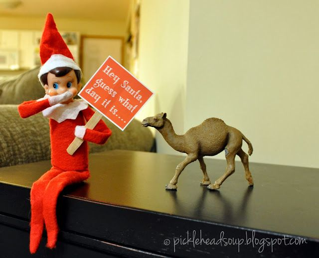 Guess what day it is? Haha great elf idea! @Samantha Kunde I bet kellen would think It's funny:)