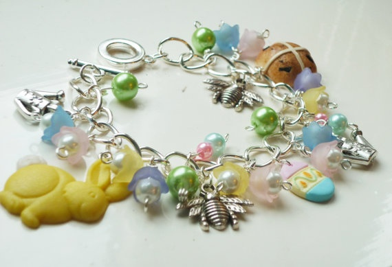 Cute Pastel Easter Bracelet by DreambirdDesign on Etsy, £7.99