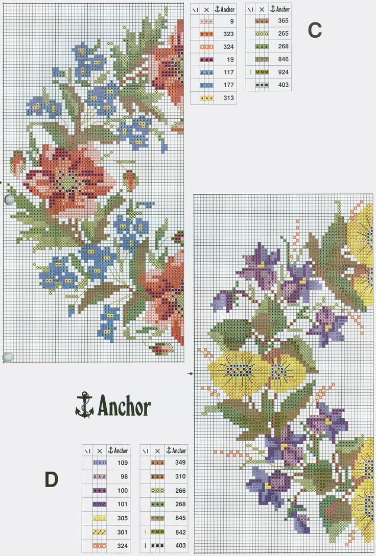 Floral Wreaths (Part 2) free cross stitch pattern from www.coatscrafts.pl #afs