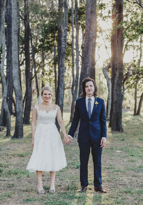TAHNEE + MARK // #realwedding #QLD #DIY #inspiration #outdoor #colour #flowers #haybales #bridalgown
