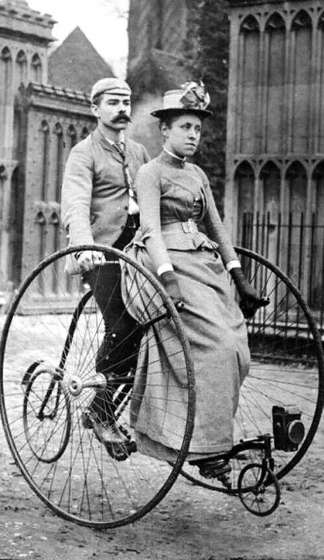 vintage everyday: Vintage Weird Inventions – People with Their Funny Bicycles in the Past
