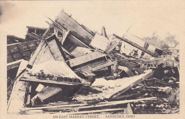 Flood damage On East Market Street, SANDUSKY, Ohio, 1900-1910s