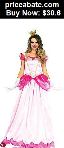 Women-Costumes: Pretty Pink Princess Peach Mario Outfit Cartoon Characters Costume Adult Women - BUY IT NOW ONLY $30.6