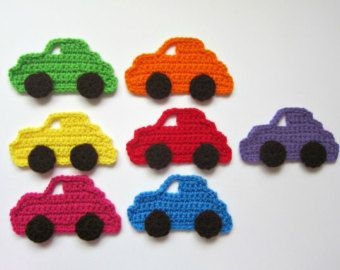 Crochet car appliqué crochet pattern DIY by VendulkaM on Etsy